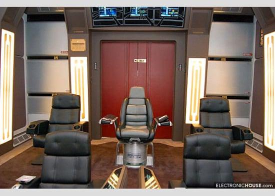 Star Trek Fan Creates Home Theater