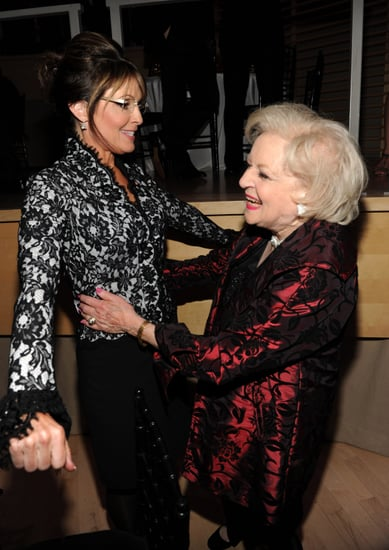 Betty White Hugging Sarah Palin Picture at Time 100 Gala