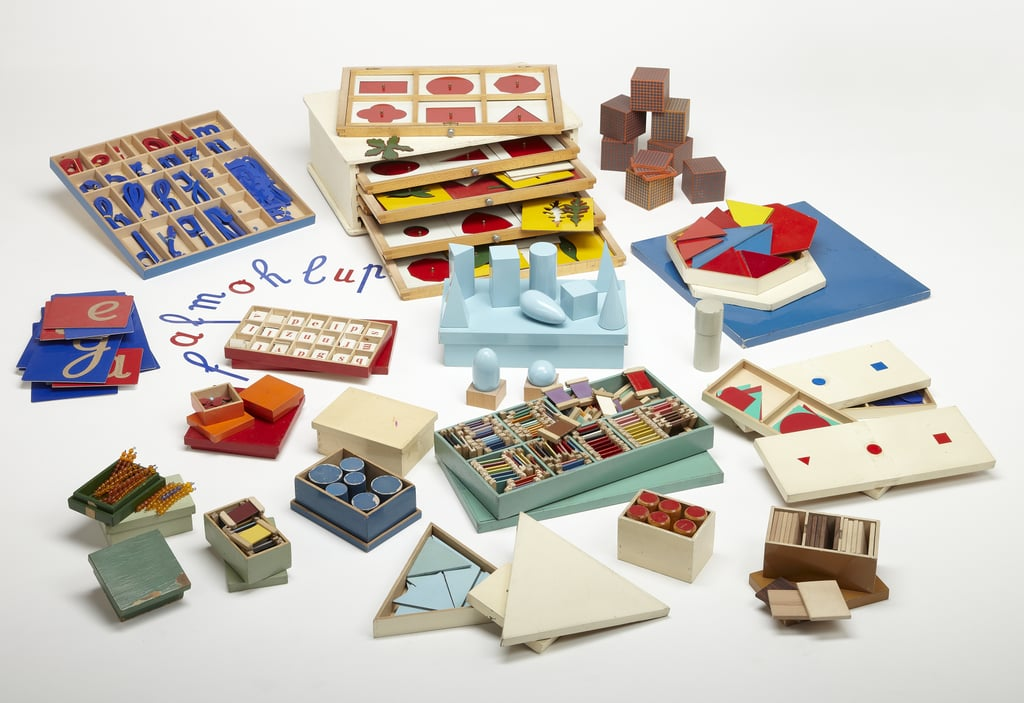 Teaching materials commissioned by Maria Montessori, 1920s.