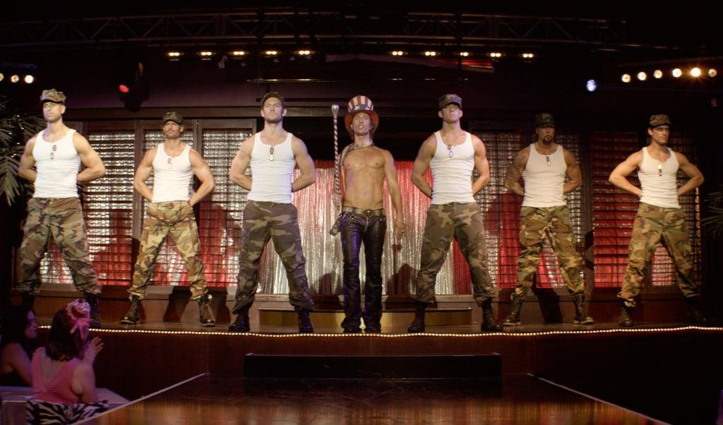 Joe Manganiello, Adam Rodriguez, Channing Tatum, Matthew McConaughey, Alex Pettyfer, Matt Bomer and Kevin Nash in Magic Mike.
