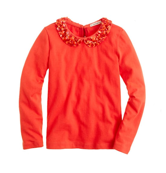 J.Crew Sparkle-Collar Top