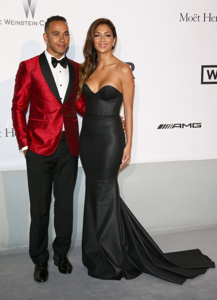 Lewis Hamilton and Nicole Scherzinger walked the red carpet together.