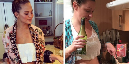 Mom Recreates Celebrity Parents' Photos And It's Totally Hilarious
