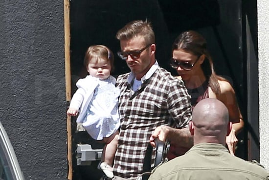 David and Victoria Beckham ate lunch with Harper.