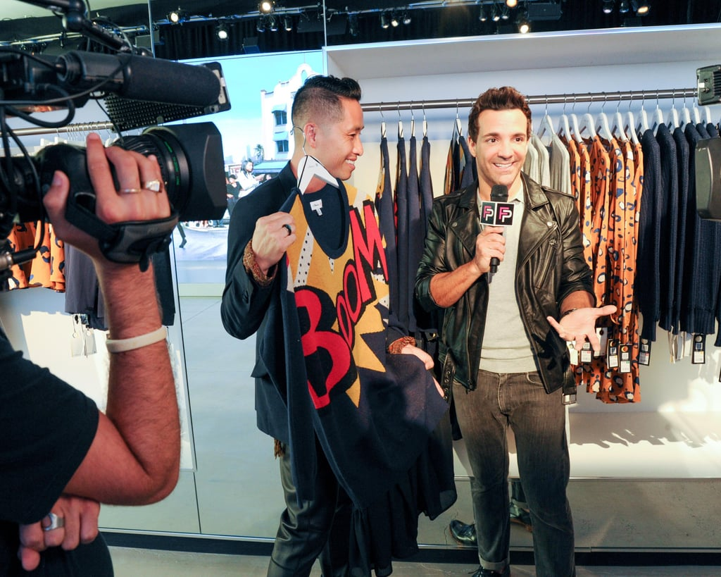 Lim also did an interview with Fashion Police cohost George Kotsiopoulos.