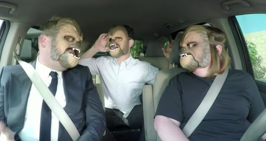 Chewbacca Mom Carpools With James Corden and J.J. Abrams