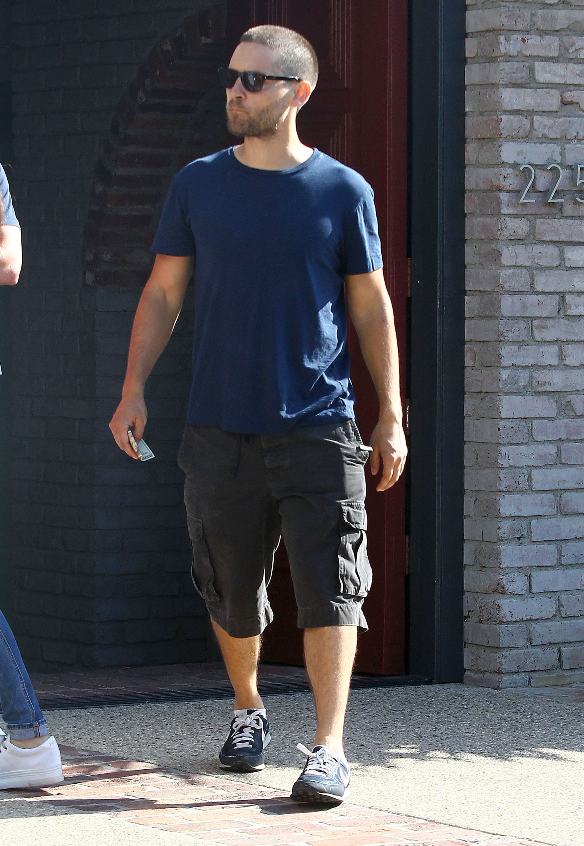 Tobey Maguire kept it casual. Keep scrolling for more pictures!