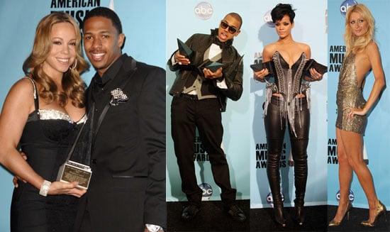 Photos of Chris Brown, Rihanna, Paris Hilton at the 2008 American Music Awards Press Room