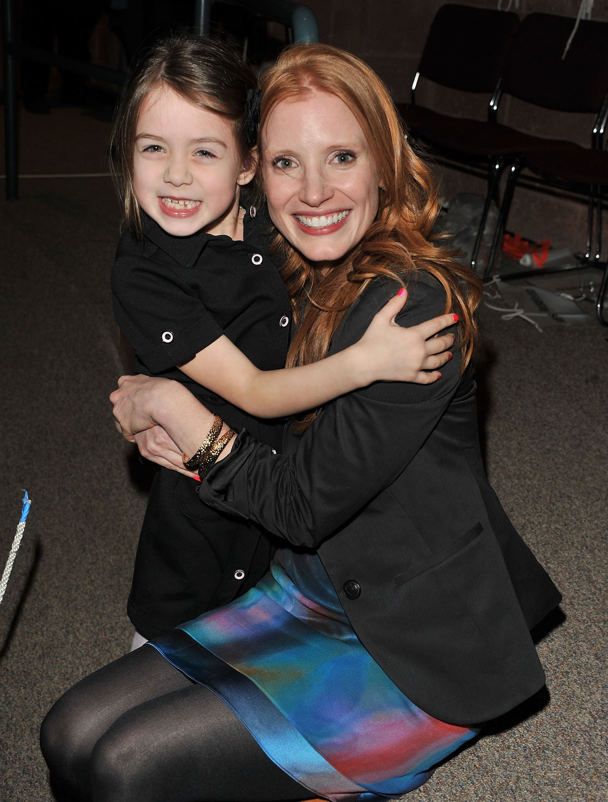 Jessica Chastain posed with her tiny costar at the Take Shelter premiere in 2011.