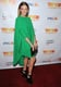 LeAnn Rimes dressed up in a bold-hued, emerald green frock and equally bold wedges at Trevor Live.