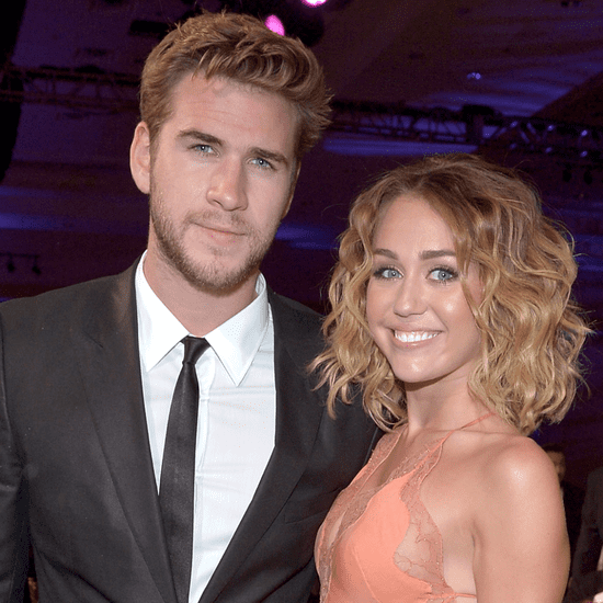 Liam Hemsworth and Miley Cyrus at The Huntsman Premiere