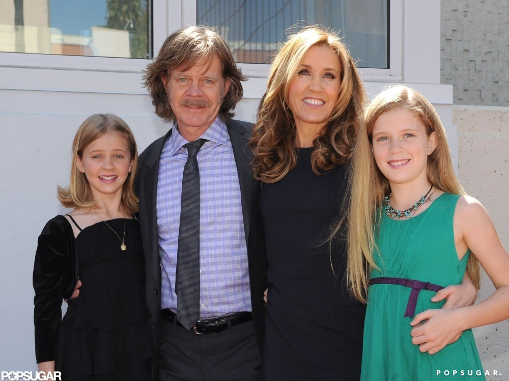 Felicity Huffman and William H. Macy were honored with stars on the Hollywood Walk of Fame in March 2012 and celebrated the special day with their daughters, Sophie and Georgia.