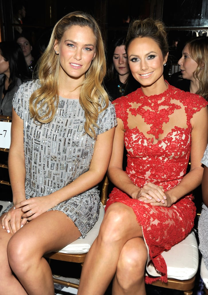 Bar Refaeli and Stacy Keibler sat front row at Marchesa.