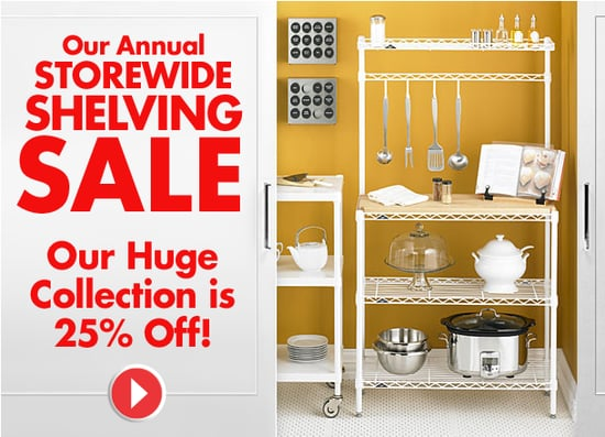 Sale Alert: The Container Store Shelving Sale