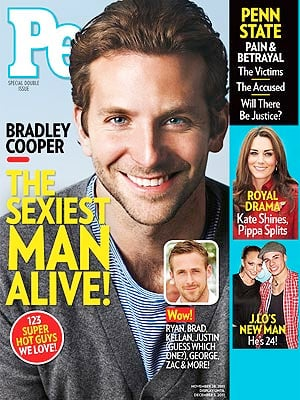 """But who has missed out? When Ryan Gosling missed out in 2011 to Bradley Cooper, Gosling fans protested the decision outside People's NYC headquarters. Bradley did press interviews around the time the issue was released and said on The Graham Norton Show, """"And it's pictures of him [Ryan] walking around and he literally looks like he's in a photo shoot, like he just came off the runway."""" Funnily enough the two hotties starred in The Place Beyond the Pines together. Others who haven't been named Sexiest Man Alive — yet — include Daniel Craig and Michael Fassbender. Who would you pick for the title?"""