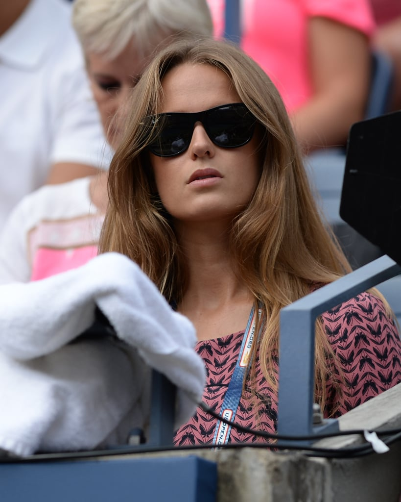 Kim Sears watched Andy Murray play at the US Open.