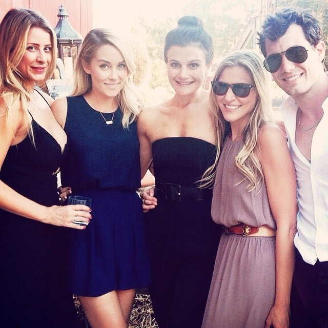 Lauren and Lo gathered with pals for a group shot before the wedding.