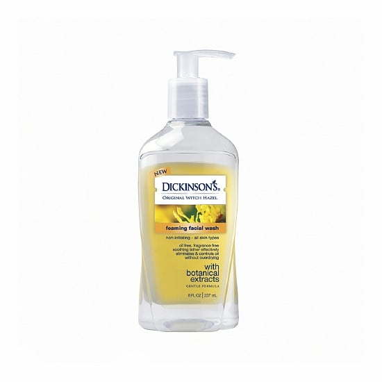 The soap-free Dickinson's Foaming Face Wash ($7) harnesses the natural astringent and antioxidant properties of witch hazel in a foaming form. Perfect for oily-prone skin, this will gently wash away excess oils without irritating already-blemished skin.