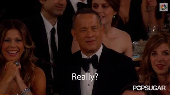 And Tom Hanks Reacted Like This