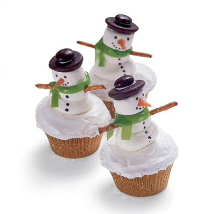 Frosty the SNowman Cupcakes