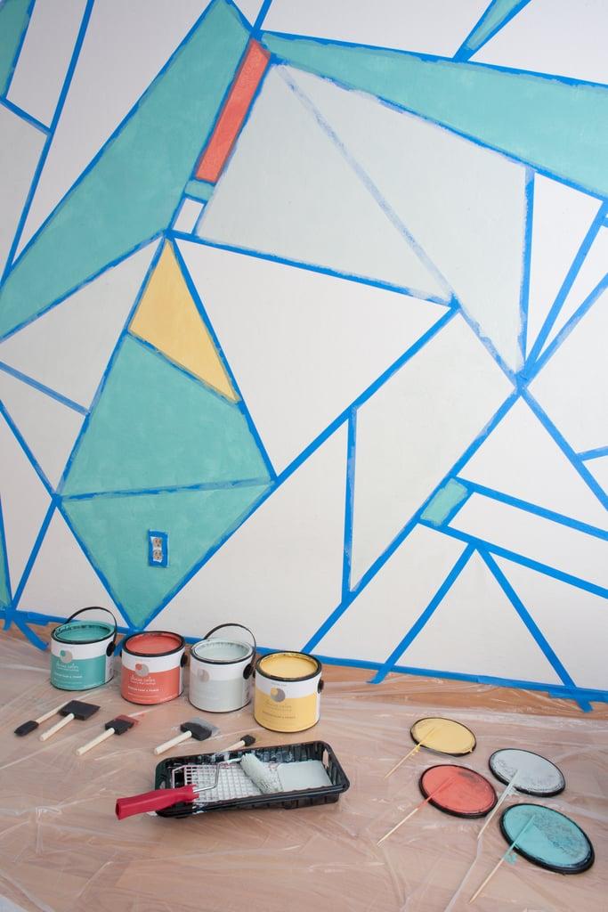 Diy Geometric Nursery Wall Popsugar Latina
