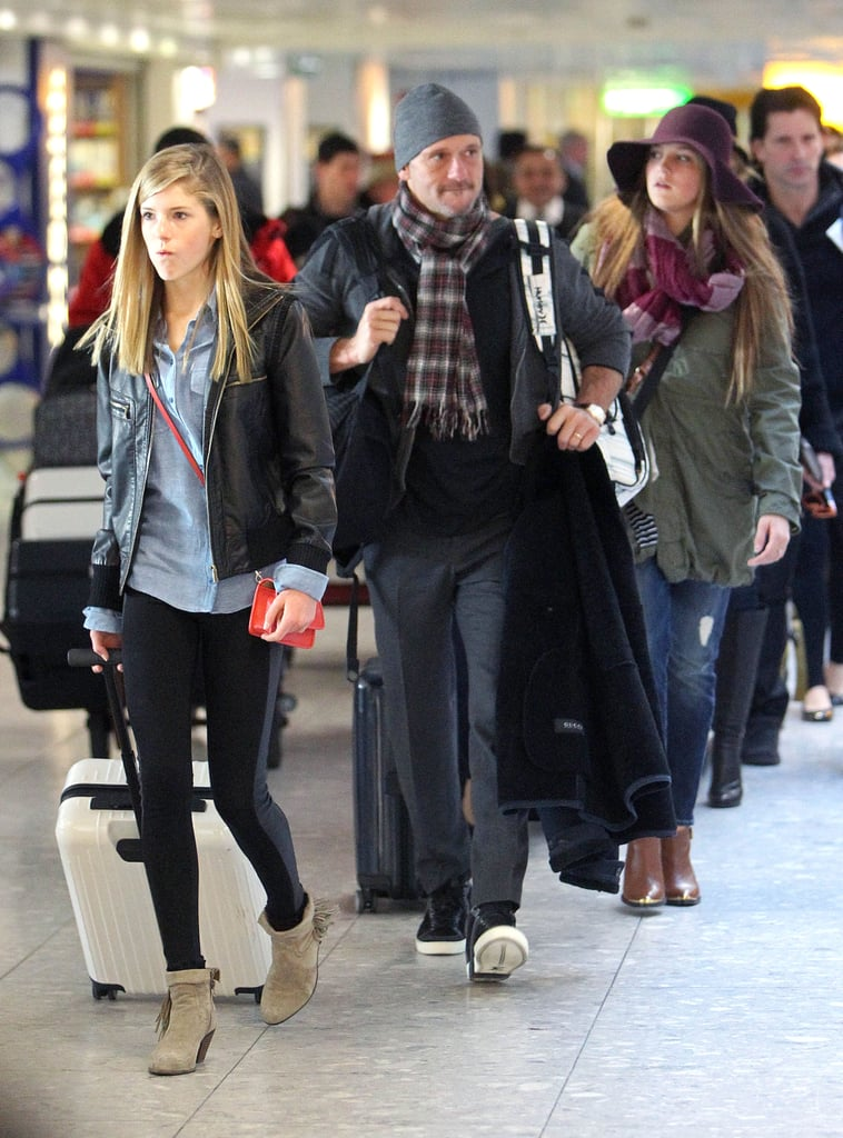 Tim McGraw landed in London with his daughters and his wife, Faith Hill.