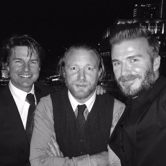 David Beckham Takes a Selfie With Tom Cruise