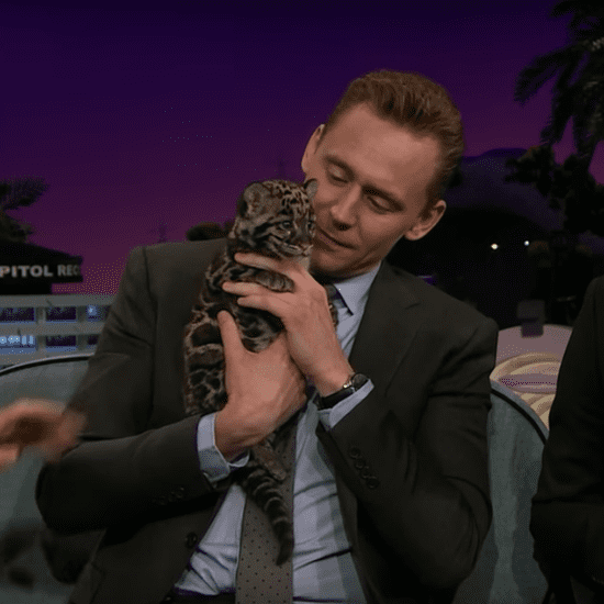 Tom Hiddleston Cuddles a Baby Leopard With James Corden