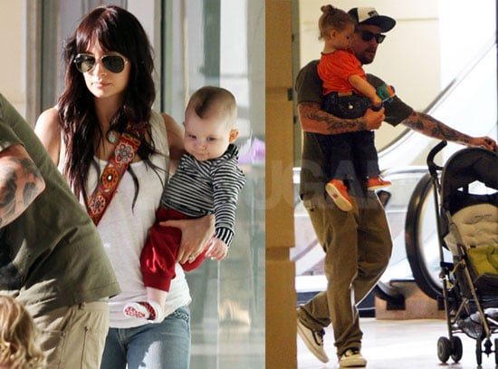 Pictures of Joel Madden And Nicole Richie Shopping With Harlow And Sparrow