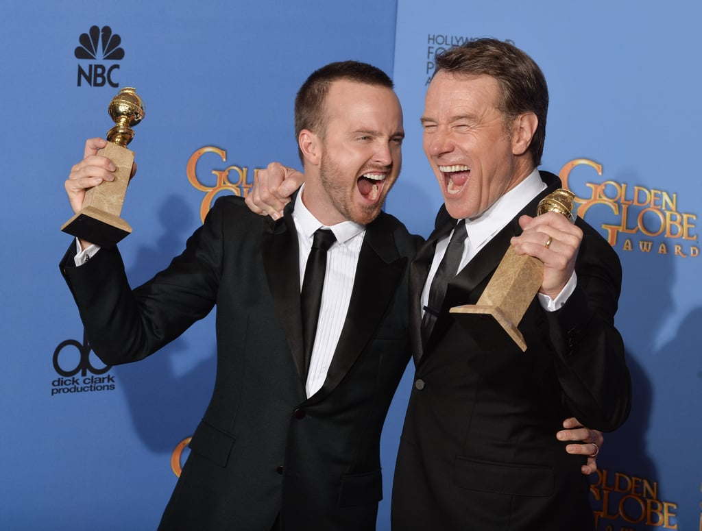 Aaron Paul and Bryan Cranston Cheered at the Globes