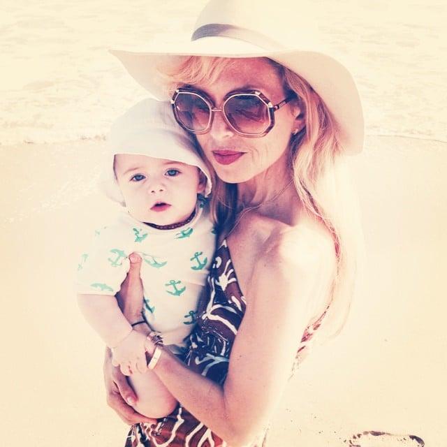 Rachel Zoe spent the Fourth of July on the beach with her baby, Kaius. Source: Instagram user rachelzoe