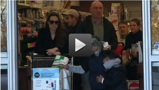 Angelina Jolie Grocery Shopping With Maddox and Pax Jolie-Pitt in France!