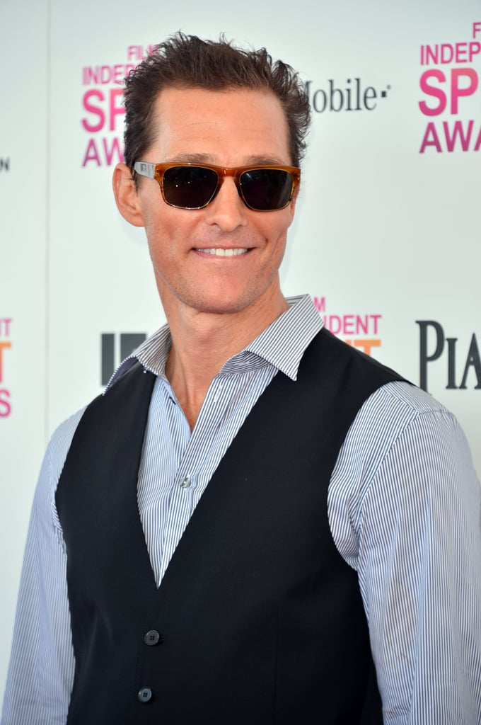 Matthew McConaughey on the red carpet at the Spirit Awards 2013.