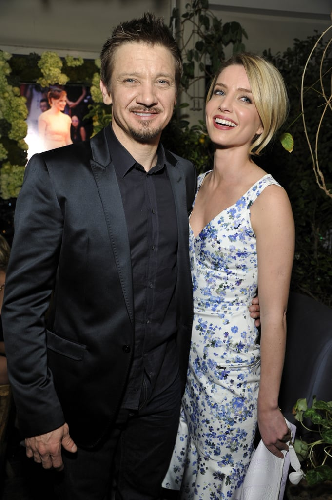 Jeremy Renner posed alongside Annabelle Wallis at Bulgari's party on Tuesday night.