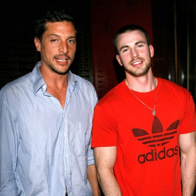 Simon Rex and Chris Evans at the Premiere of Street Kings