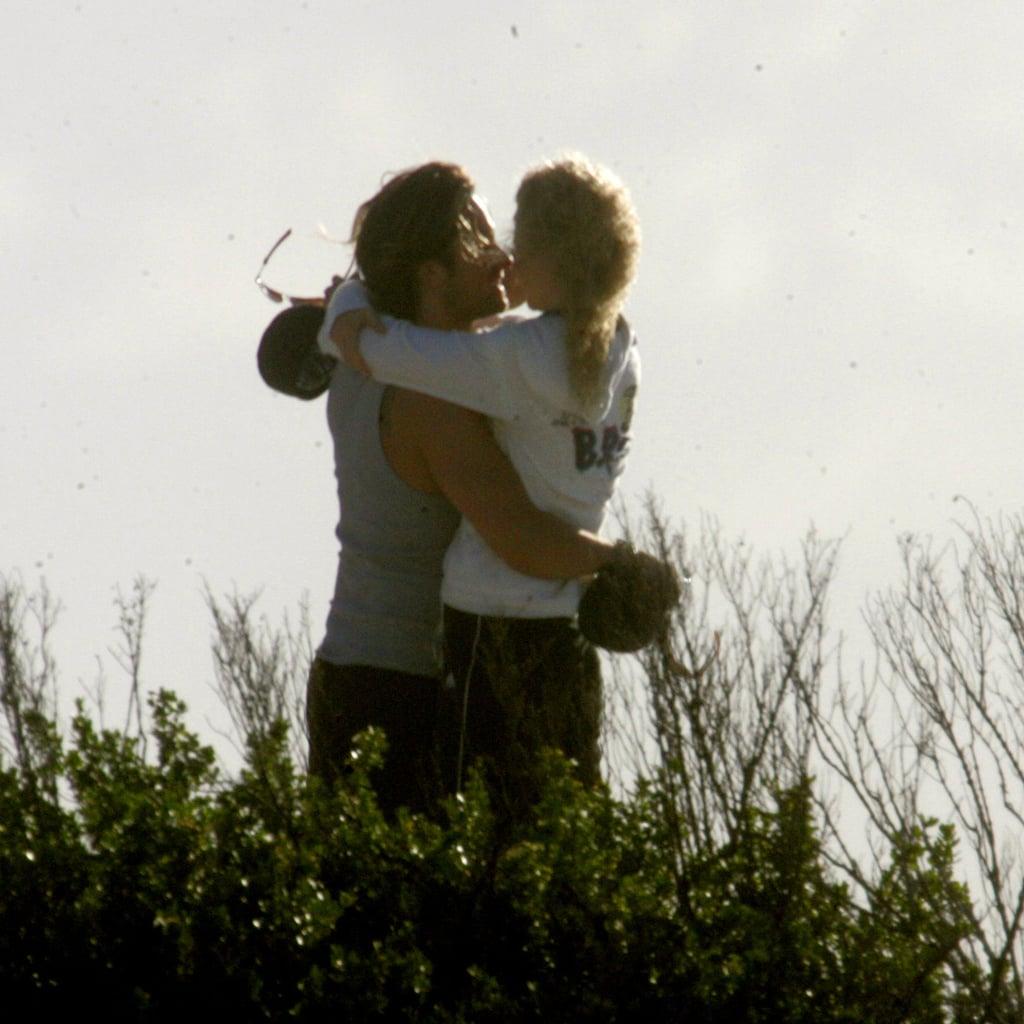 Nicole Kidman and Keith Urban embraced on their 2006 honeymoon in Bora Bora.