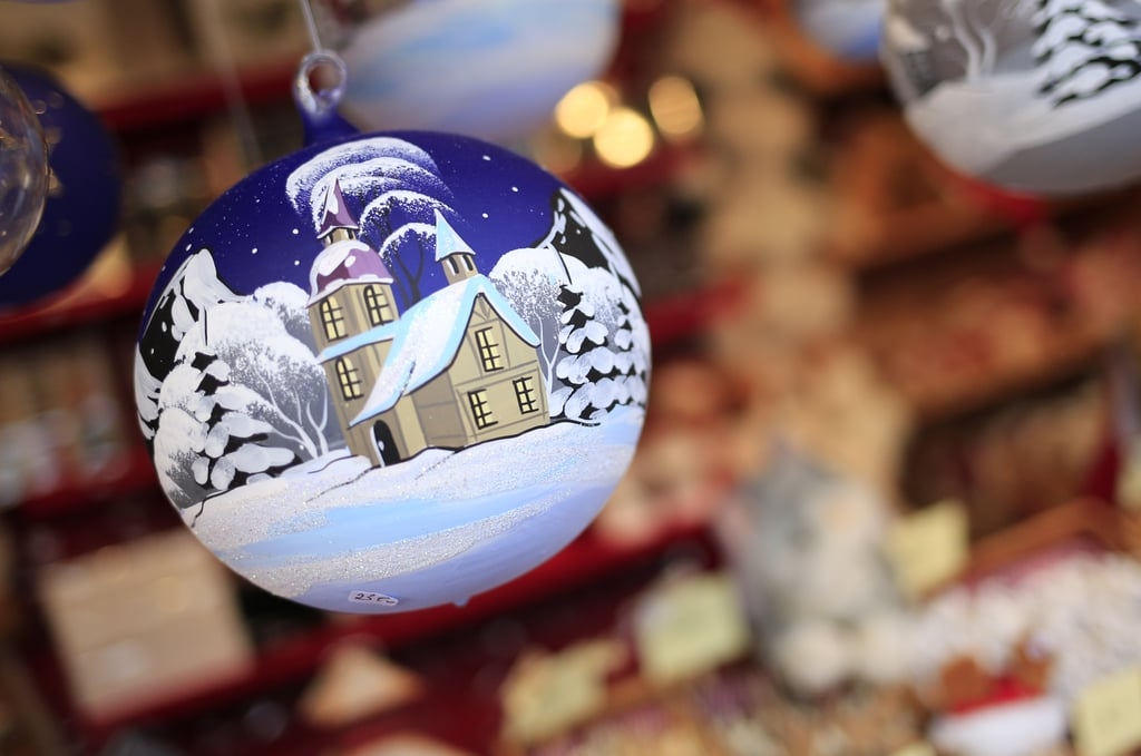 Christmas decorations and souvenirs were seen at the Rathaus Christmas Market in Vienna.