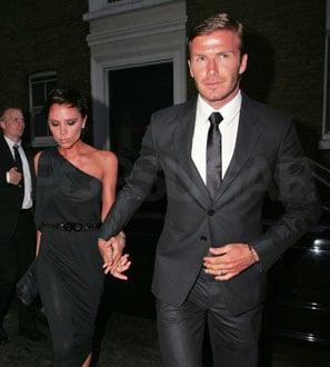 Photos of Victoria, David, Cruz, Brooklyn, Romeo Beckham in the UK