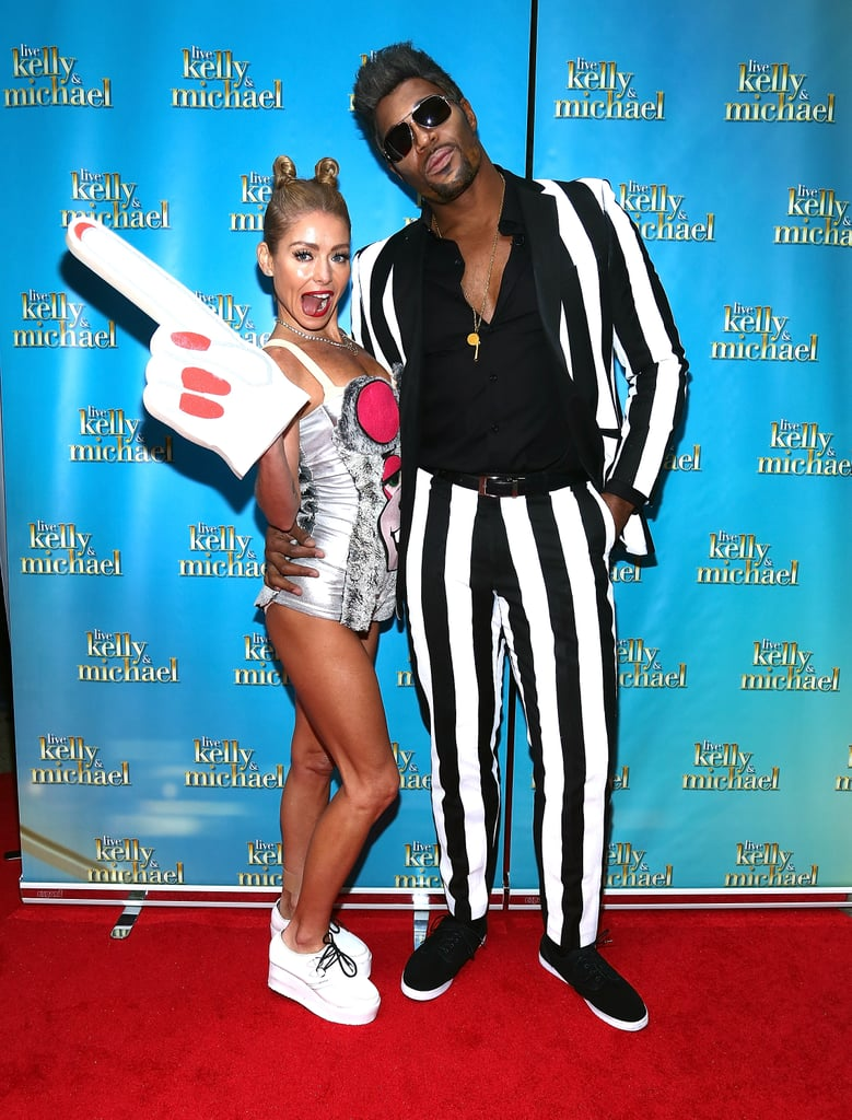 Kelly Ripa and Michael Strahan were Miley Cyrus and Robin Thicke for Halloween in 2013.