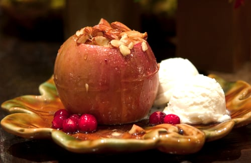 Baked Apples With Honey, Walnuts, and Ginger
