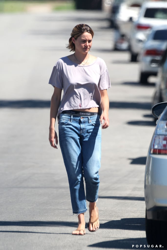 Shailene Woodley walked back to her car after visiting a friend.