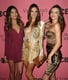 Lily Aldridge, Alessandra Ambrosio, and Miranda Kerr posed together at the viewing party for the 2011 show.
