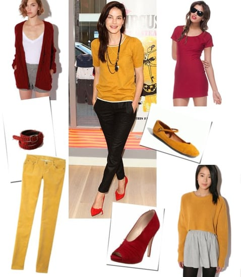 Pictures of Michelle Monaghan in Mustard and Red