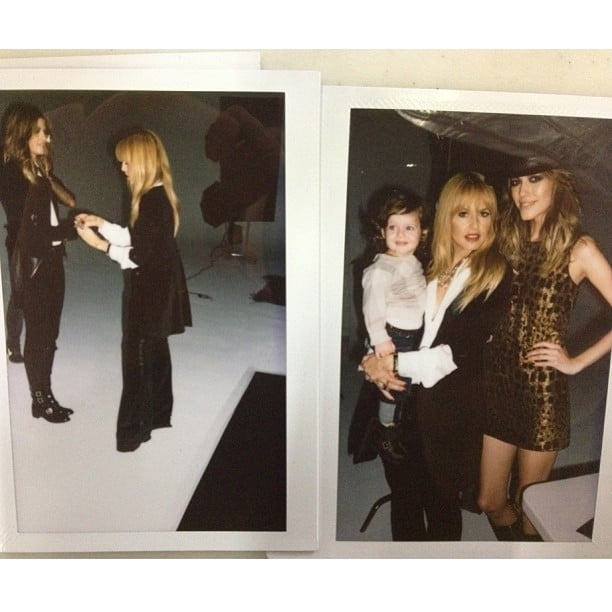 Skyler Berman looked happy to be spending the day behind the scenes of his mom's Pre-Fall 2013 fashion shoot. Source: Instagram user rachelzoe