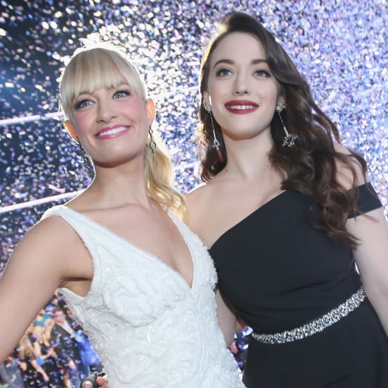 Kat Dennings and Beth Behrs at People's Choice Awards 2014