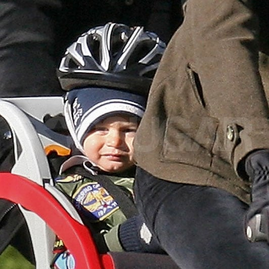 Ben Brady wore a helmet and enjoyed the ride.