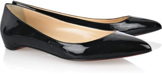 Christian Louboutin Black Patent-Leather Flats