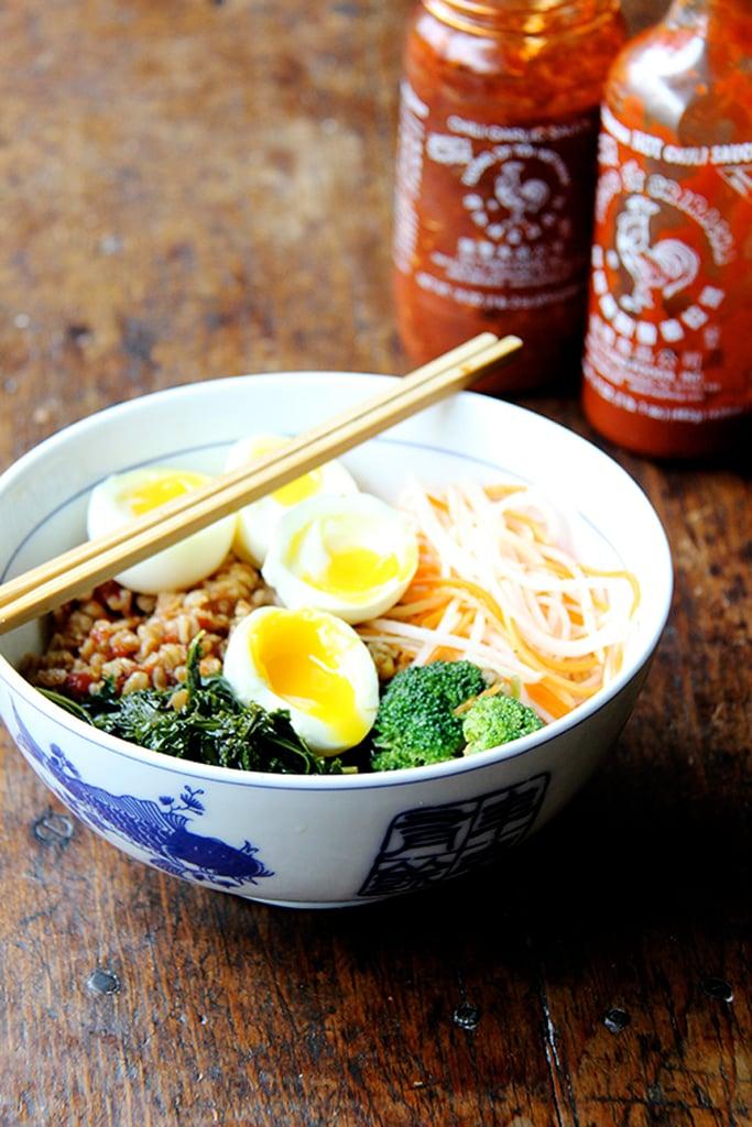 Grain Bowl With Teriyaki Sauce, Greens, and Soft-Boiled Egg