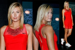 Sharapova's Red Nike Tennis Dress: Cool or NOT?