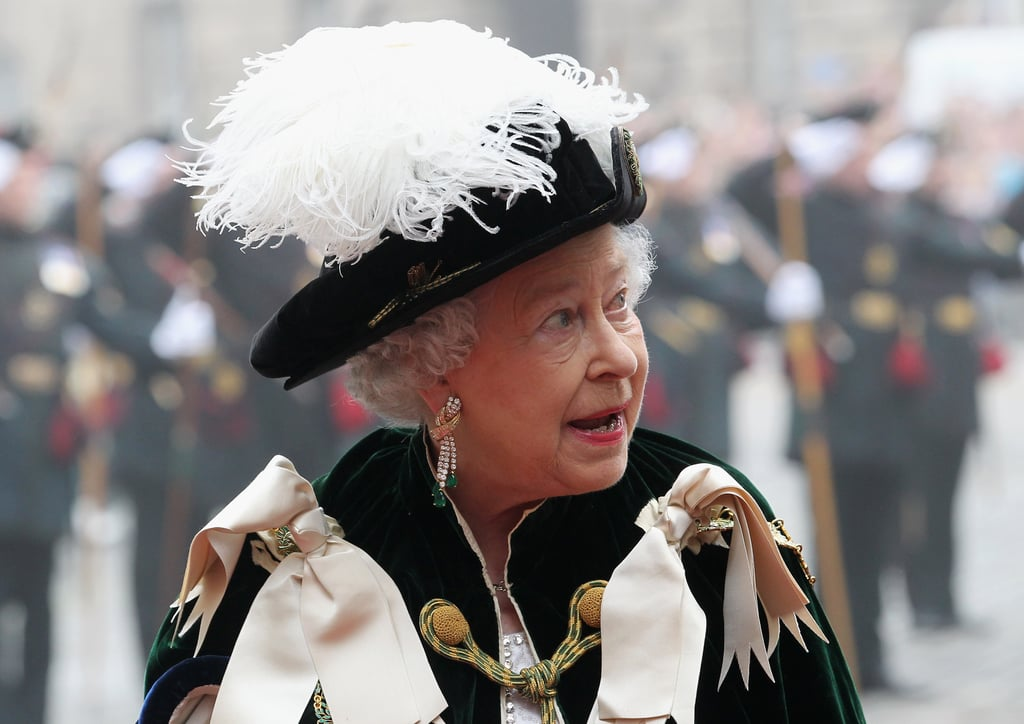 Queen Elizabeth attended the Thistle Ceremony in Scotland.